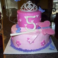 Fancy Nancy   For a Fancy Nancy Birthday. Buttercream with gumpaste tiara, number, and wand. RI butterflies