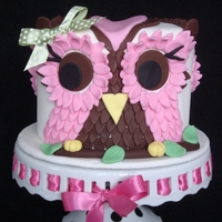 Owl Cake Pic For my friends daughter's first birthday...this was sooo much fun to make.