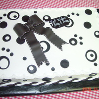Black And White Theme Wedding Shower
