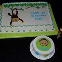 Lil Monkey Cake And Smash Cake