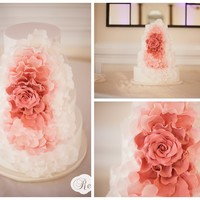 Ombred Pink Cascade Rose A design that has been done many times (i've even made three of these myself). This bride requested it be an ombred pink rose. I loved...