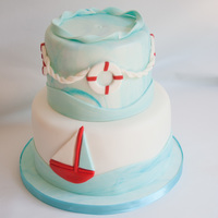 Nautical Baby Shower Cake There was also a gumpaste whale that was a replica of the whale on the invitation that was put on once delivered but sadly I forgot my...