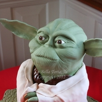 Yoda Grooms Cake Grooms cake for a star wars fan. Stood approx 2 ft tall. Death by Chocolate he was ;)