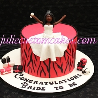 Zebra Print Pink and black zebra print for a bride to be