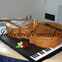 Cello Real size cello cake