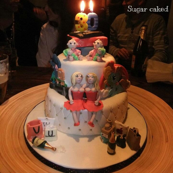 A 30Th Birthday Cake For Twins The Cake Is Like A Timeline Of Thier Lives Starting With No1 Singlealbum When They Were Born Fav Cartoons  A 30th birthday cake for twins, the cake is like a timeline of thier lives starting with no1 single/album when they were born, fav cartoons...