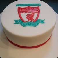 Liverpool Logo Cake Made for my brother's 40th birthday. Changed the EST date to his birth year. All piped & flooded with royal icing.