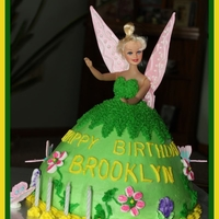Tinkerbell Cake My inspiration comes from CC! Thanks to all of you that upload your beautiful cakes! Cheers to you!
