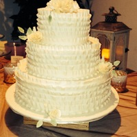 Frilled Cake With Roses The groom's grandfather made cakes for 40 years, but is unable to anymore. His grandmother asked me a year ago if I would make their...