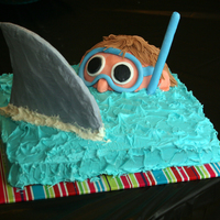 Easy Shark Birthday Cake I saw this design somewhere else, Family Fun magazine, I think. It was really easy and perfect for my son's shark birthday. The shark...