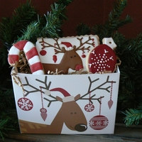 Reindeer Cookie Box Gift A fun gift for neighbors. I made cookies to match the box from Nashville Wraps.