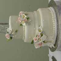 Floral Wedding Cake Thanks for looking!!!!