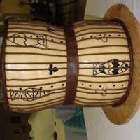 Nigerian Drum Cake This was made for a Nigerian wedding, they had 2 diffrent ceremony's and this was the cake for the Nigerian Wedding, white cake with...