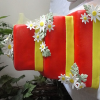 Red & Yellow Wedding Cake Thanks for looking!!!