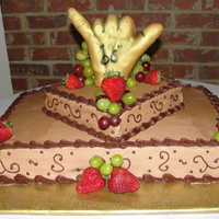 Hang Loose Grooms Cake This was the grooms cake for the American ceremony, tripple choc. fudge cake with chocolate buttercream. The hand was carved & covered...