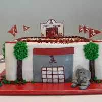 Alabama Football Stadium Cake Thanks for looking!!!