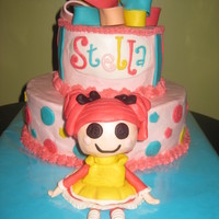 Lalaloopsy Cake Buttercream cake with fondant accents. Lalaloopsy 'doll' was made of fondant, following Elisa Strauss' tutorial.