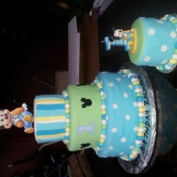 Mickey 1St Bithday This is my take on the Mickey 1st birthday party theme. This cake was designed from the decorations and tableware. TFL