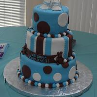 3-Tier Baby Booties This is a 3-tier baby booties theme for a baby boy. The theme colors were blue and brown. I thought I might accent with teddy bears since...