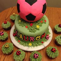 A Soccer Birthday Cake For My Daughter Thanks For Looking   A soccer birthday cake for my daughter. thanks for looking