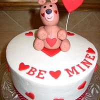 "Bemine 6"" chocolate cake with raspberry filling and vanilla buttercream. Thank you Cakes by May for such a cute design!"