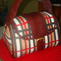 Burberry Handbag cake is red velvet