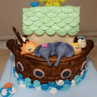 Noah's Ark...here Come The Twins Made from cake and rice krispie treats and fondant Oh My!