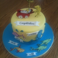 Dr. Suess Gender Reveal Cake