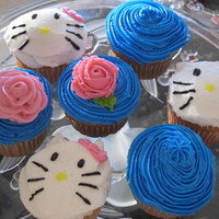 Hello Kitty Cupcakes I made these to match a cake I made for a Hello Kitty- themed birthday for my niece. They were kind of an afterthought, but I think they...