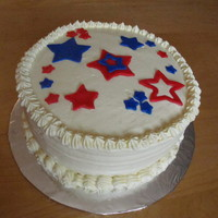 Sugar-Free Patriotic Cake My first attempt at sugar-free baking. Sugar-free chocolate cake with sugar-free Bavarian cream filling and sugar-free whipped cream icing...