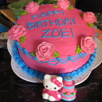 Hello Kitty Cake This is my niece's 4th birthday cake. My sister-in-law wanted the bottom tier of the cake in the Hello Kitty candle (pictured) so I...