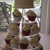 Gluten Free Wedding Cupcakes Gluten free chocolate cupcakes, silhouette cut cupcake wrappers, gumpaste roses.