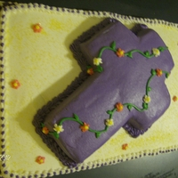 Cross   Cake made for the elder women of our church. All cake with butter cream icing
