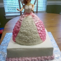 Barbie Cake Finally made a barbie cake. It was also covered in edible glitter but you can't tell from the picture