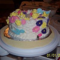 Wilton Class 2 This is the final cake for the Wilton class 2