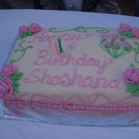 Neice's Birthday Cake This is a cake made of fondant for my neice's birthday