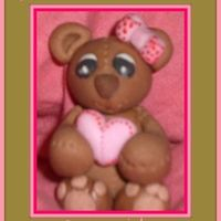 I Give You My Heart <3 I made this Teddy, about 2 inches tall, last night with 50/50 mix to practice, I see a few flaws but that just means the next one will be...