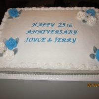 Anniversary Cake This cake went along with the sliver and white two tiered anniversay cake and the 60th birthday cake