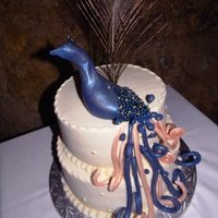 Peacock Wedding Hand made peacock from fondant.