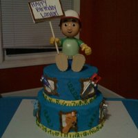 Handy Manny Cake! Handy Manny!! Cake iced in buttercream and all decorations are buttercream, except the toys! all toys are store bought! the sign Manny is...