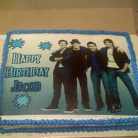 Big Time Rush Cake Big Time Rush!!! 1/2 sheet cake, iced in whipped icing w/ edible image on top!!