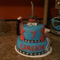 You Rock Guitar Cake!! Perfect for any little Rockstar!! this cake was so fun! Inspiration came from someone on here(sorry can't remember the name!)...