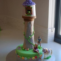 Rapunzel Tower Cake