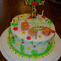 Happy Birthday Jesus I baked the chocolate cake and frosted it with buttercream. My granddaughter (11 1/2 at the time) designed it and did all the decorating....