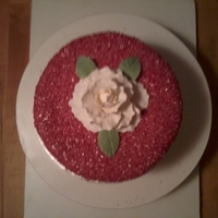 Sparkling Red Rose Cake