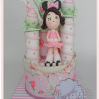 Tea Cup Castle Cake All hand painted