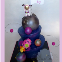 Girly Outer Space Cake