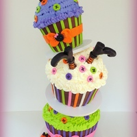 Not So Spooky Halloween !!! combination of carved cakes, ganache, fondant and buttercream.