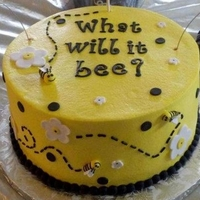 What Will It Bee? Gender Reveal Cake