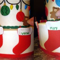 Christmas Scene Cake With Stockings